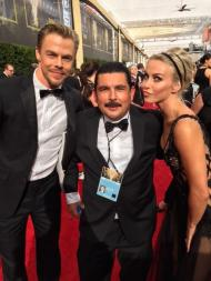 """Guillermo, Julianne Hough and Derek Hough. See #Kimmel Monday for Guillermo #BackToBack with the stars at the #Emmys!"" - Primetime Emmy Awards - September 20, 2015 Courtesy JimmyKimmelLive Twitter"